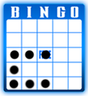 Blue border | The Post Bingo